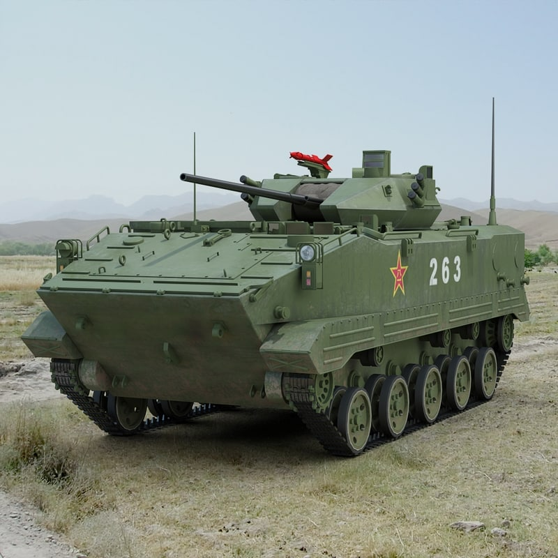 3ds max chinese zlc2000 combat vehicle