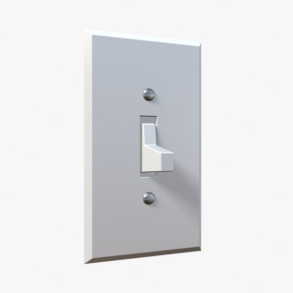 light switch 3d lwo