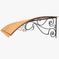 max wrought iron awning