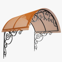 3d model wrought iron awning