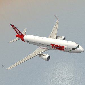 3d sharkleted airbus a320neo tam