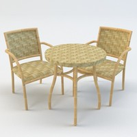 c4d chair table bamboo