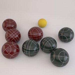 bocce ball set 3d max