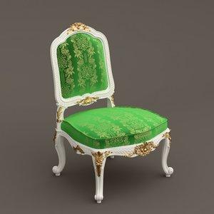 baroque armchair 3d model