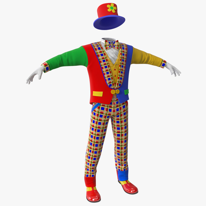 64e76f19764 3d model clown clothes