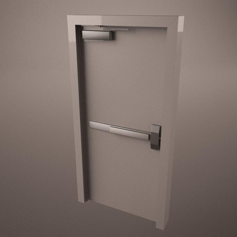 commercial door hinge handle 3d 3ds