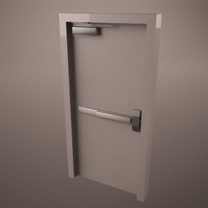 commercial door hinge handle 3d 3ds