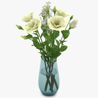 3d model eustoma white