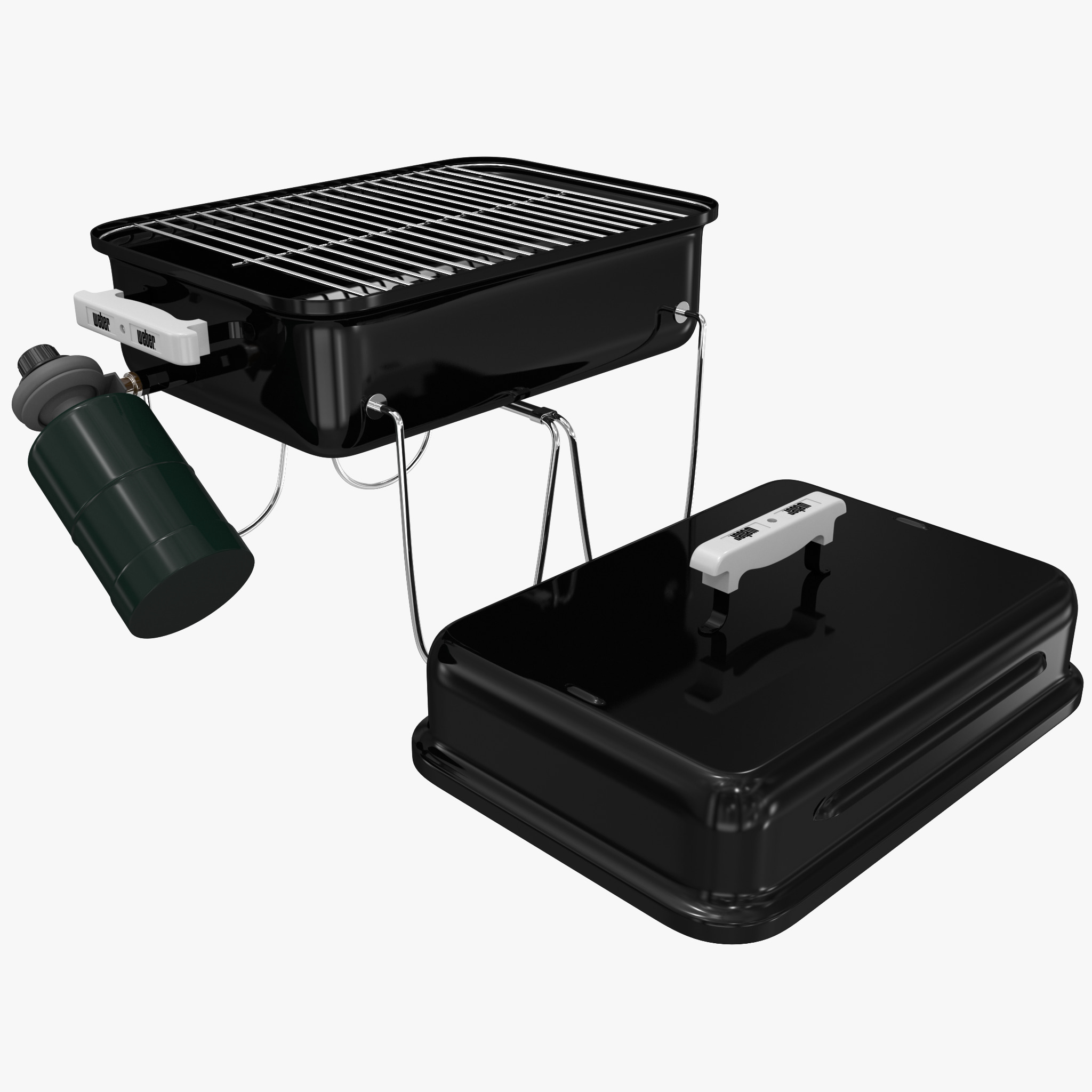 gas grill weber 1520 3d model