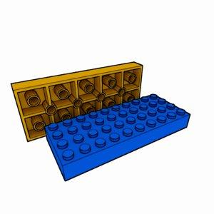 3d model piece lego brick 4x10