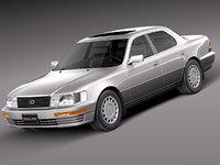 3d japan sedan 1989 luxury
