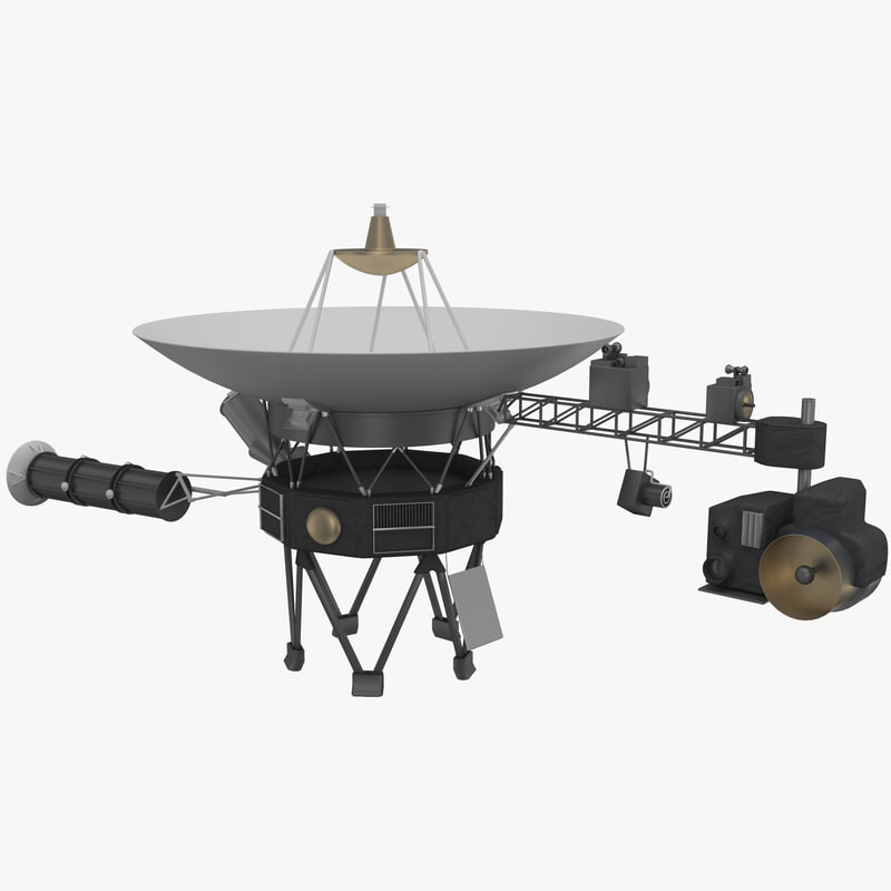 space probe voyager 1 3d model