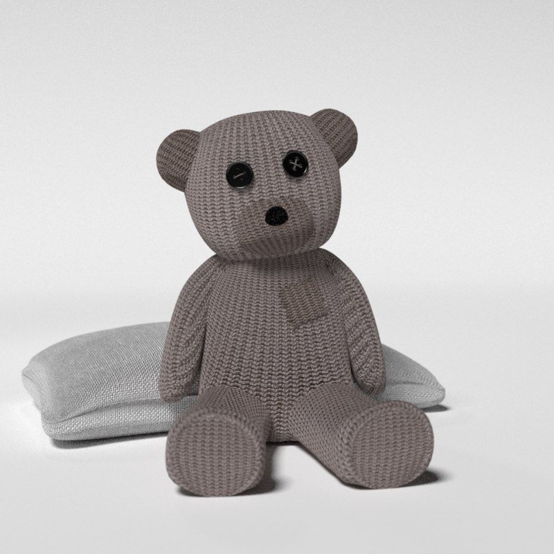 3ds max stuffed teddy bear pillow