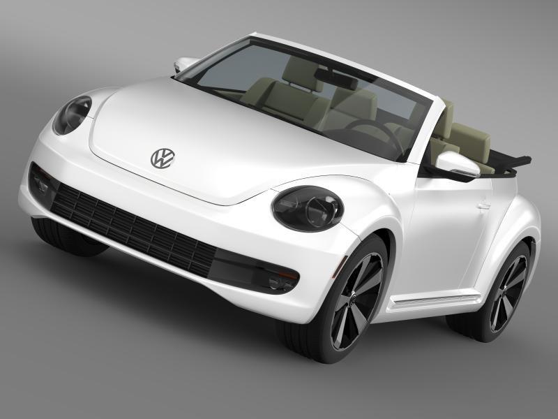 3d model beetle turbo cabrio