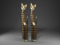 3d model scan cat sculpture
