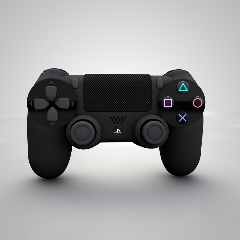 3d model of dualshock 4 controller playstation