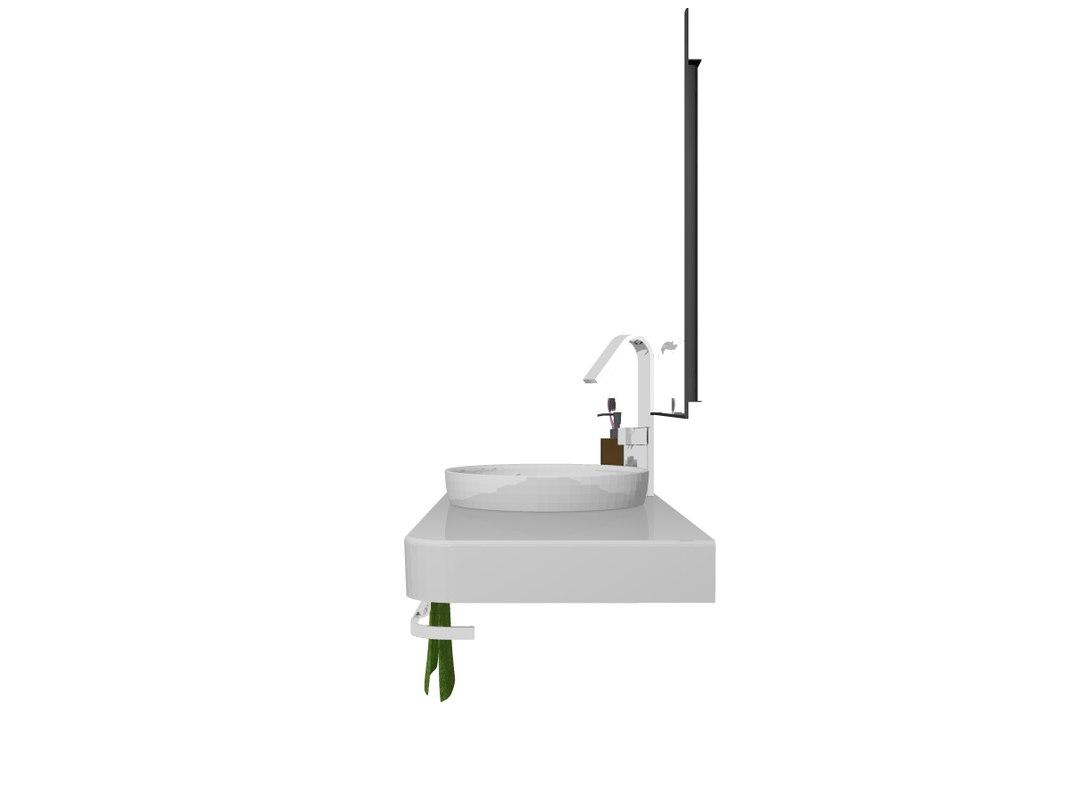 bathroom sink unit 3d model