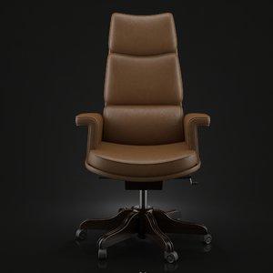 3ds max mascheroni tripla armchair