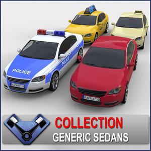 3d generic sedan monsun model