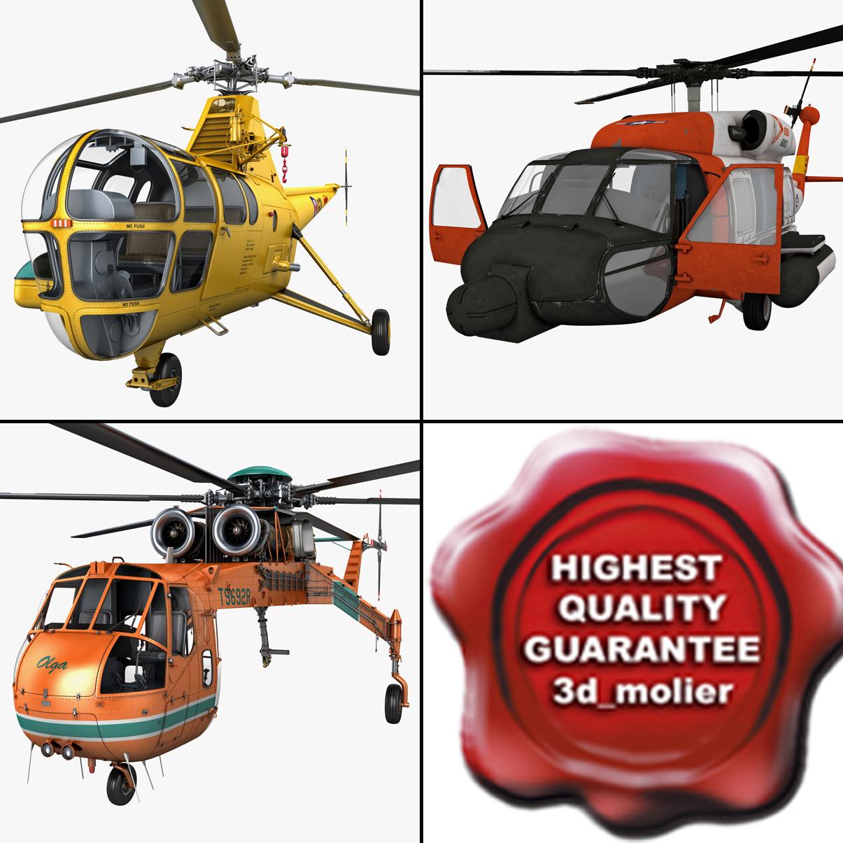 sikorsky aircraft skycrane helicopter 3d model