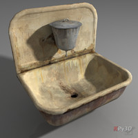 very old sink