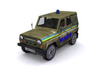 3d model uaz-469 uaz