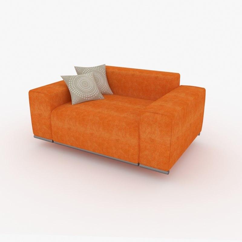 free obj mode armchair orange
