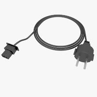 3d model computer cable