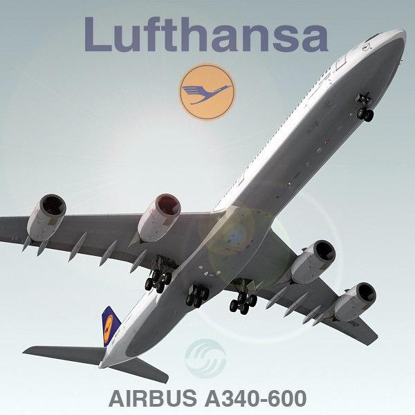 airbus a340-600 lufthansa max