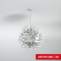 3d ceiling lamp model