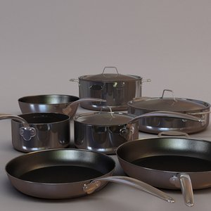 obj set cookware pan