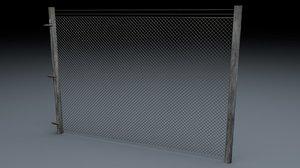 electric fence v1 3d c4d