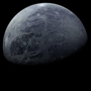 pluto planets 3d model