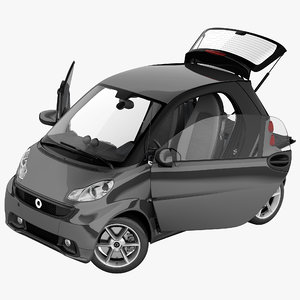 3d smart fortwo 2013 rigged model