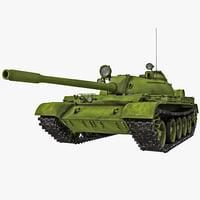 Soviet Union Main Battle Tank T-54 Rigged