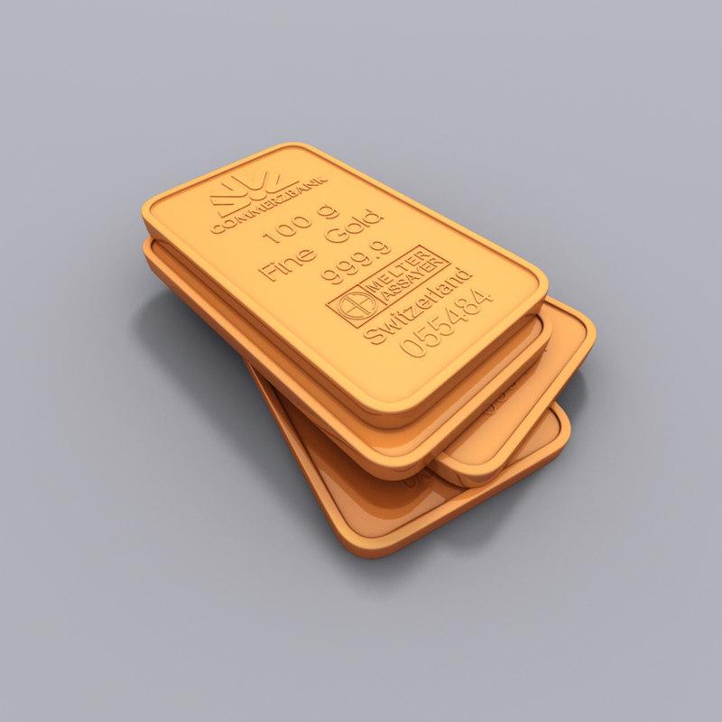 3d model bullion
