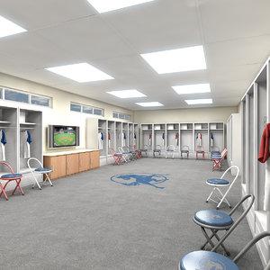 lockers room 3d model