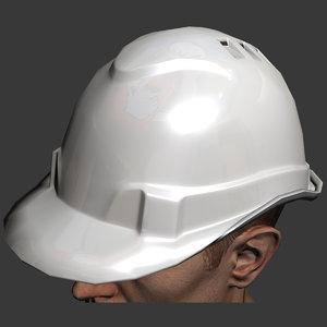 3d hard hat safety model