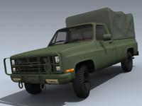 army m1008 3d model