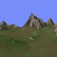 3d model metay terrain km-05
