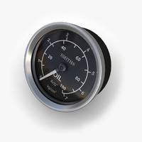 oil pressure gauge 3d obj