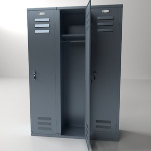 3d model locker lock