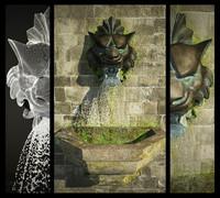 3d model lion sculpture fountain