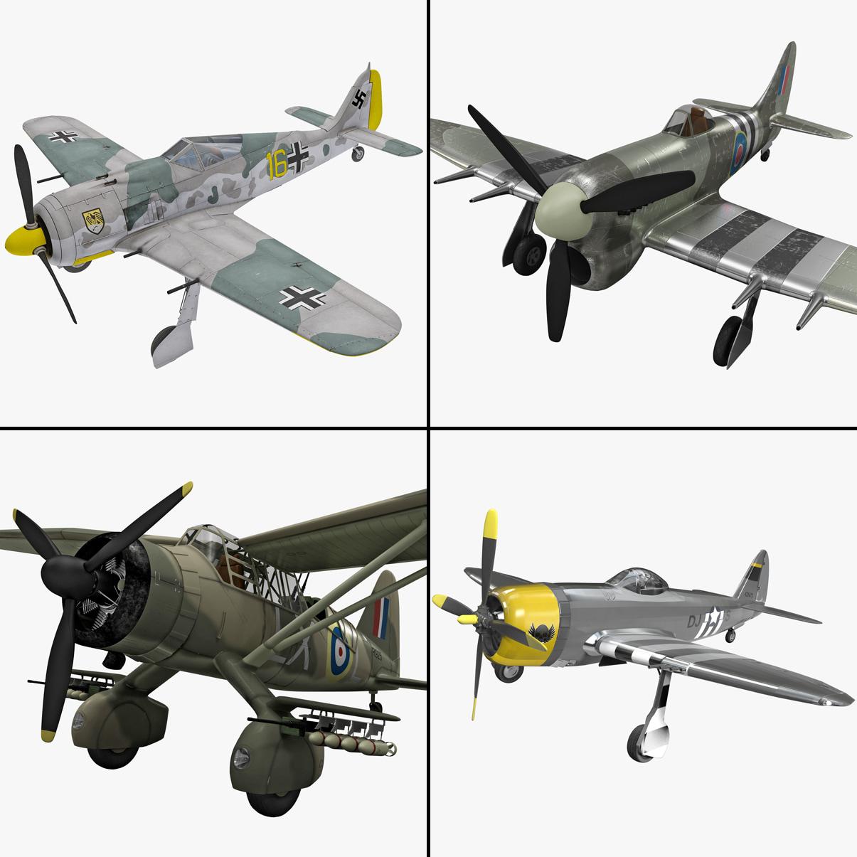 world war ii aircraft 3d 3ds