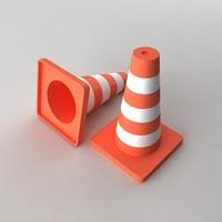 traffic cones 3d max