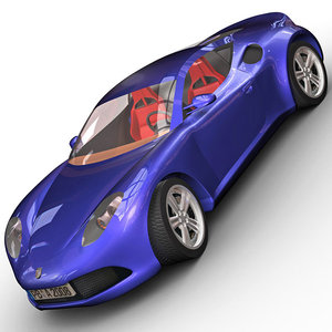 3d model german sport car artega