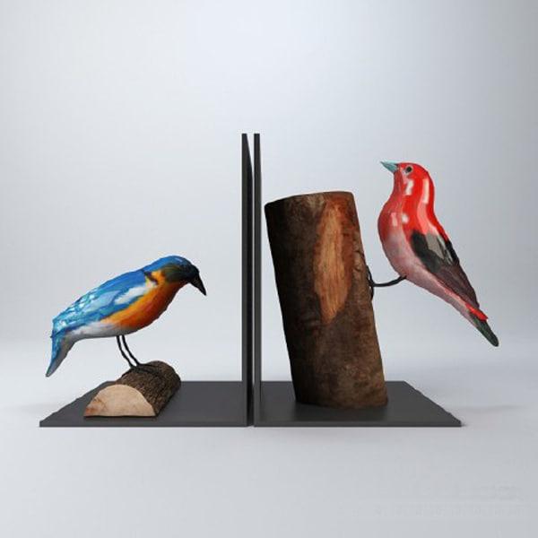 3d model birds decorations