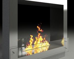 modern fireplace 3ds