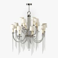 fine lamps cascades 749040st 3d model
