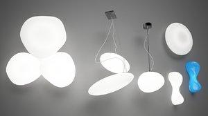 3d set lamps s model